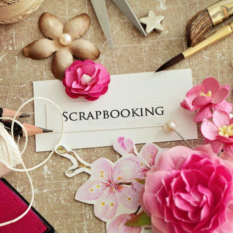 Elementos de Scrapbooking fotos de archivo libres de regalías