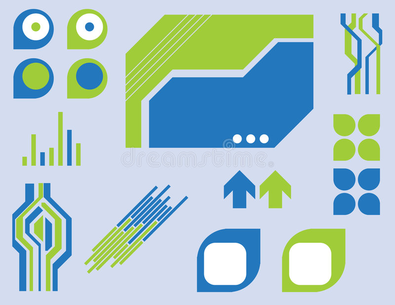 Elementos de Techno libre illustration