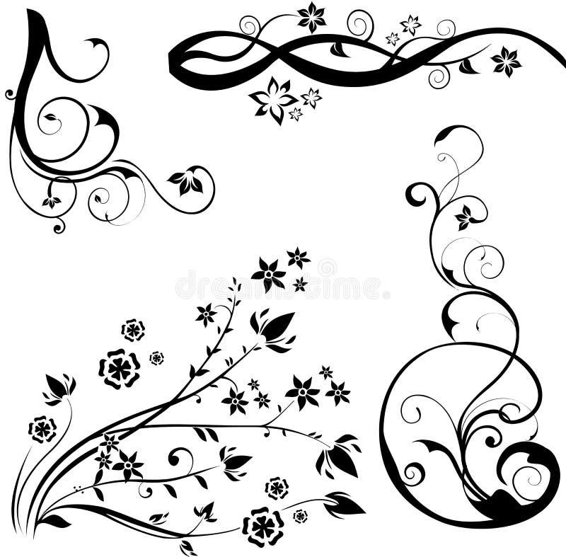 Elementos de un diseño floral libre illustration