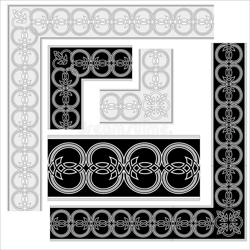 Elementos decorativos. stock de ilustración