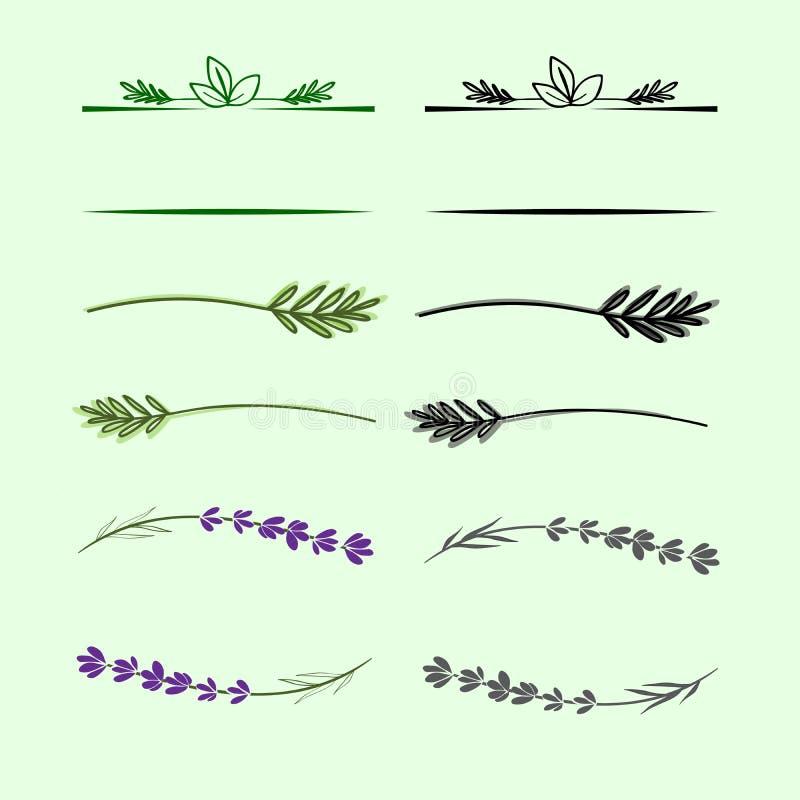 Elementos decorativos ilustración del vector