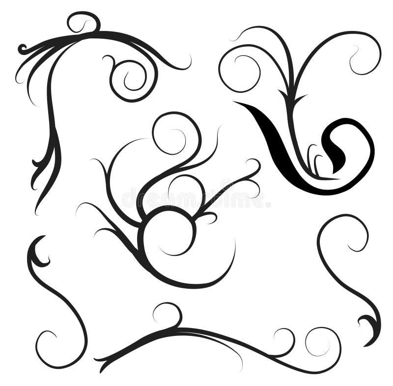 Elementos decorativos ilustração do vetor