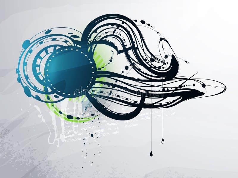 Elementos decorativos abstractos stock de ilustración
