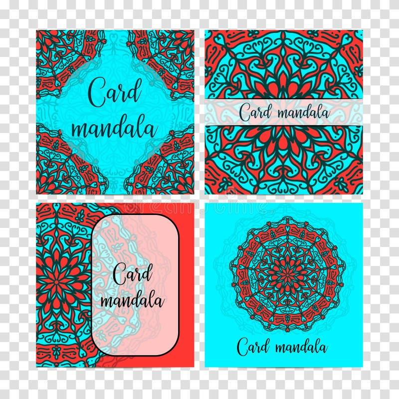 Elementos decorativos ajustados do vintage Cartão ou convite, fundo tirado mão Teste padrão oriental, ilustração Islã, árabe mim ilustração royalty free