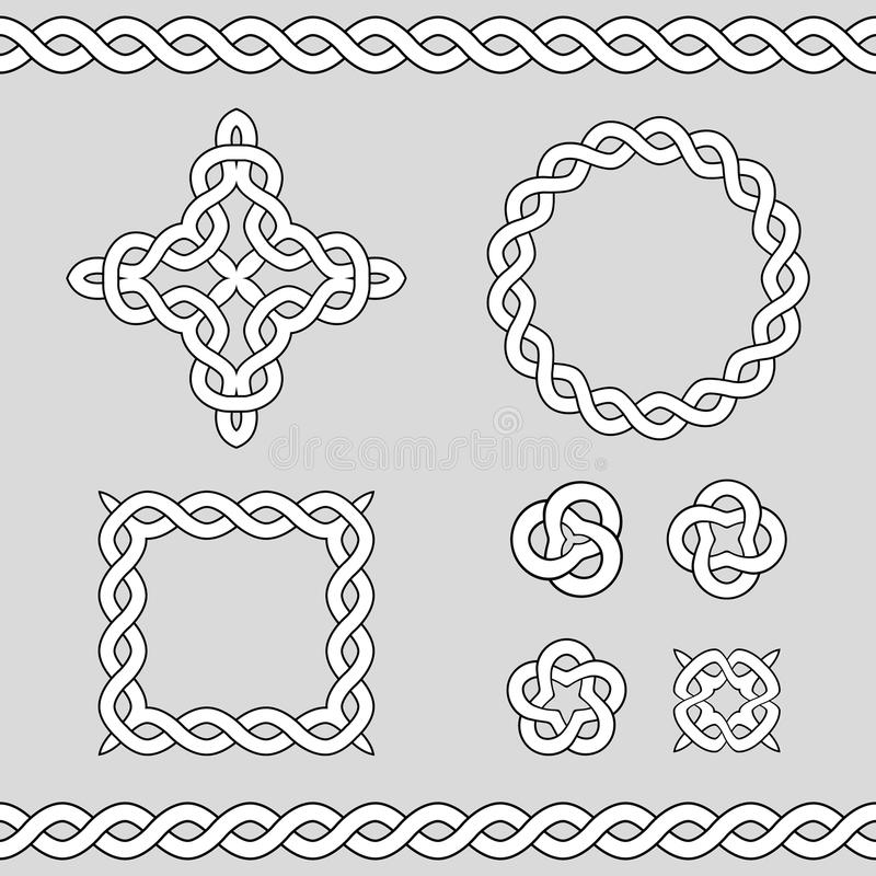 Elementos decorativos celtas do projeto ilustração stock