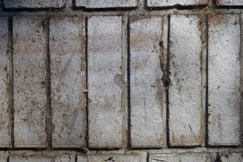 Elementos decorativos concretos da parede imagem de stock