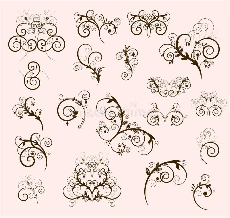 Elementos decorativos da beira ilustração do vetor