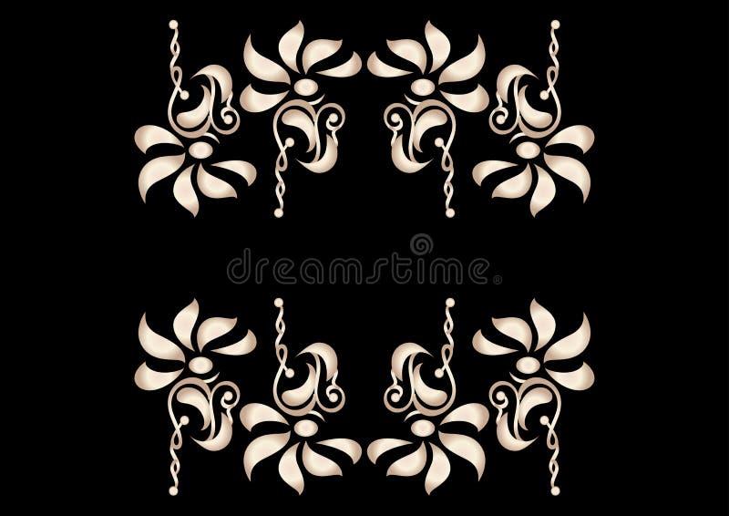 Elementos decorativos da flor ao contrário ilustração royalty free