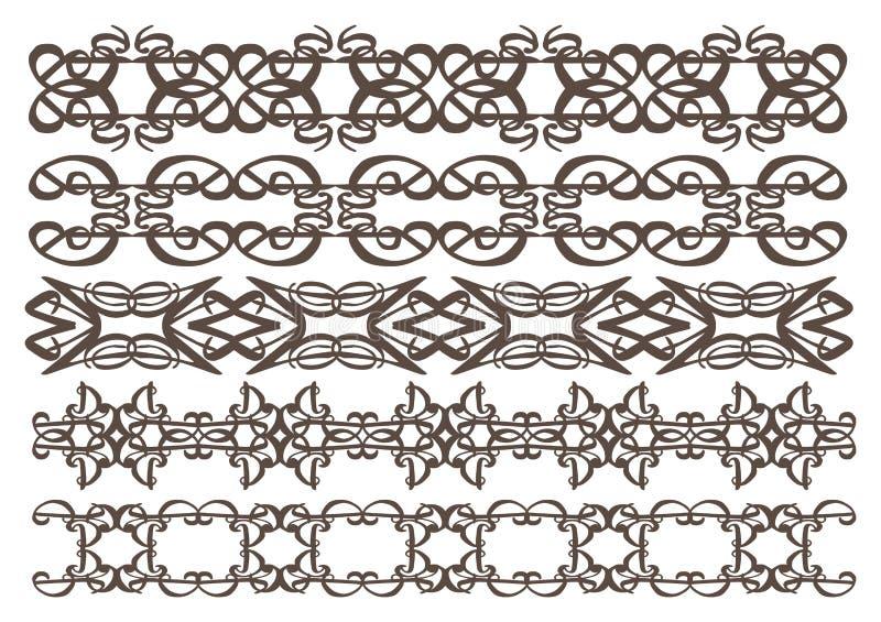 Elementos Decorativos Del Diseño Del Vintage Fotografía de archivo