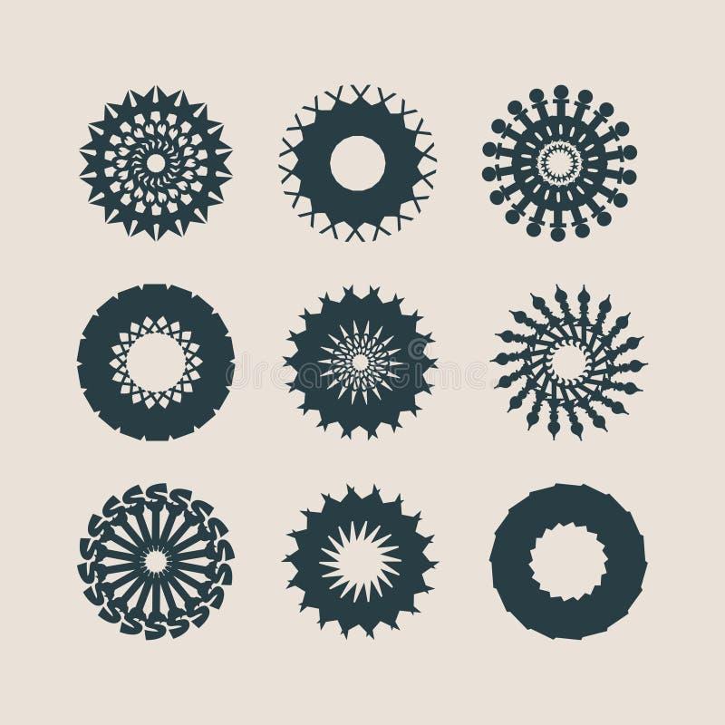 Elementos decorativos del diseño Modelos fijados libre illustration
