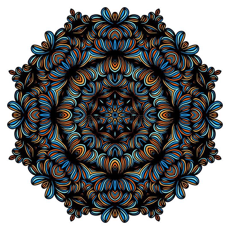 Elementos decorativos del vintage con el modelo oriental Plantilla de la yoga mandalas Árabe del Islam y cultura india Vector ilustración del vector