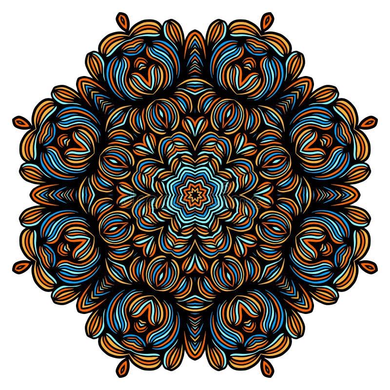Elementos decorativos del vintage con el modelo oriental Plantilla de la yoga mandalas Árabe del Islam y cultura india Vector stock de ilustración