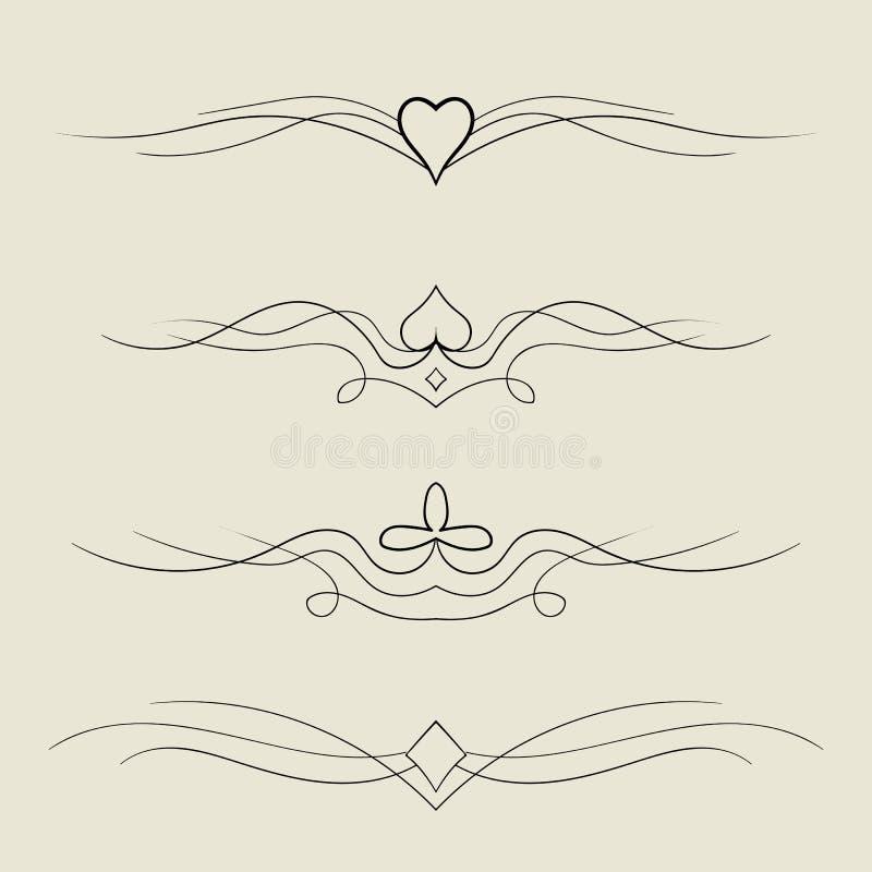 elementos decorativos do projeto do vetor ilustração royalty free