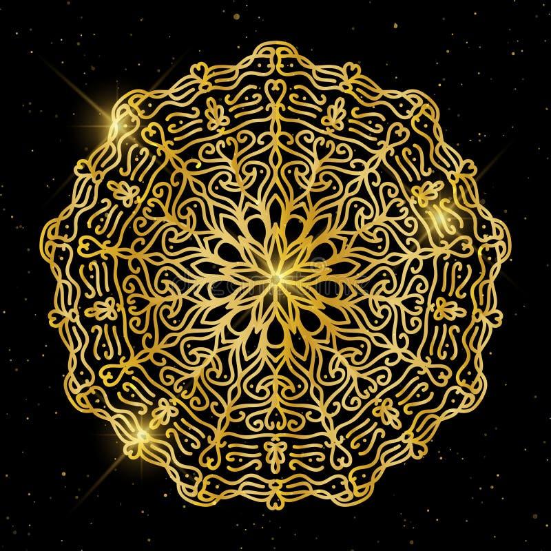 Elementos decorativos do vintage Estilo corporativo, ilustração do vetor Floral decorativo Teste padrão oriental, ilustração Islã ilustração royalty free
