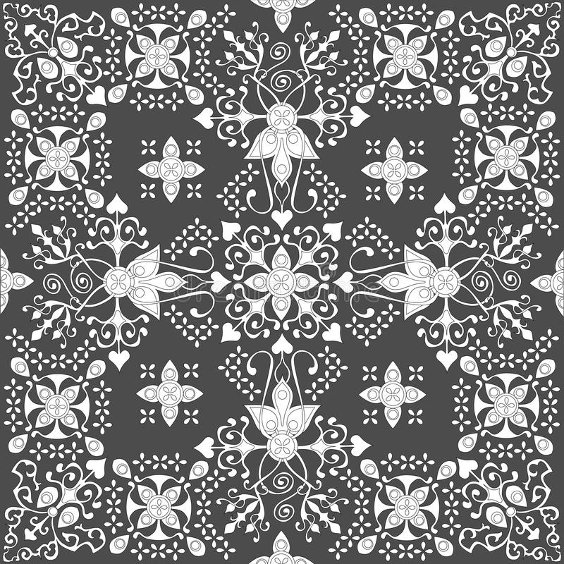 Elementos decorativos do vintage Islã, árabe, indiano, turco, pa imagens de stock royalty free