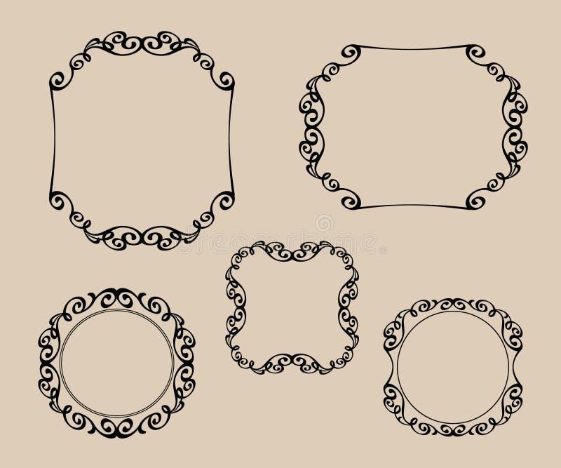 Elementos decorativos tattoo Ilustração do vetor Branco preto ilustração royalty free