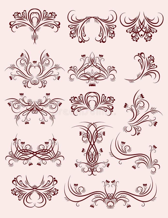 Elementos decorativos, vetor ilustração do vetor
