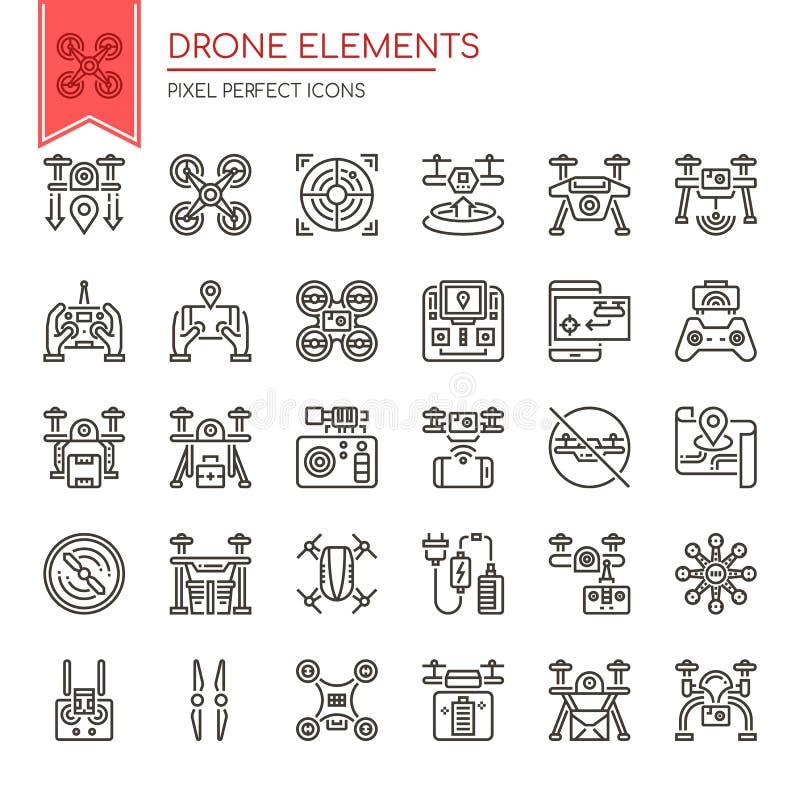 Elementos del abejón ilustración del vector