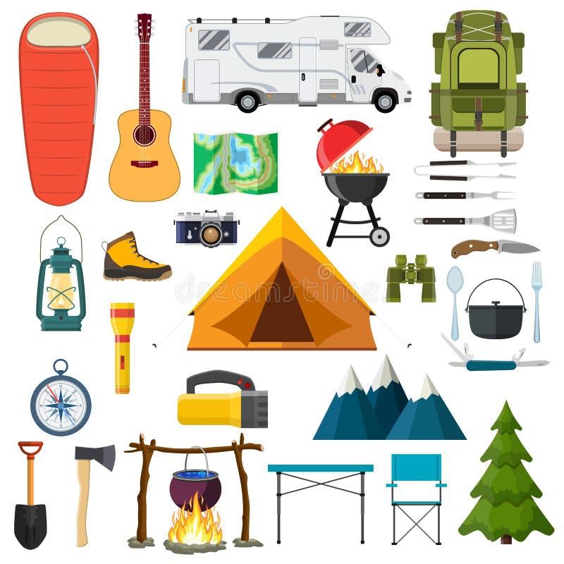 Elementos del alza de la montaña libre illustration