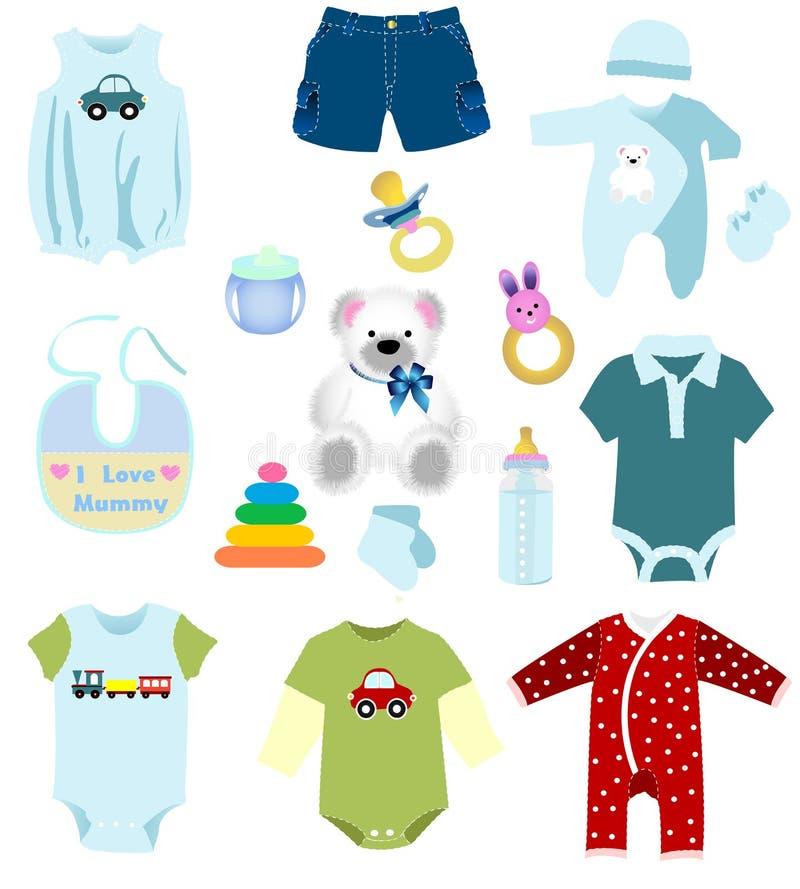 Elementos del bebé stock de ilustración