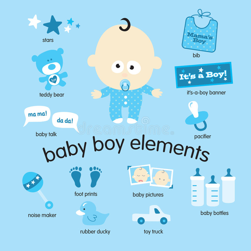 Elementos del bebé libre illustration