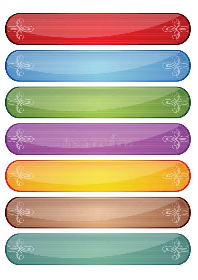 Elementos del botón del Web stock de ilustración