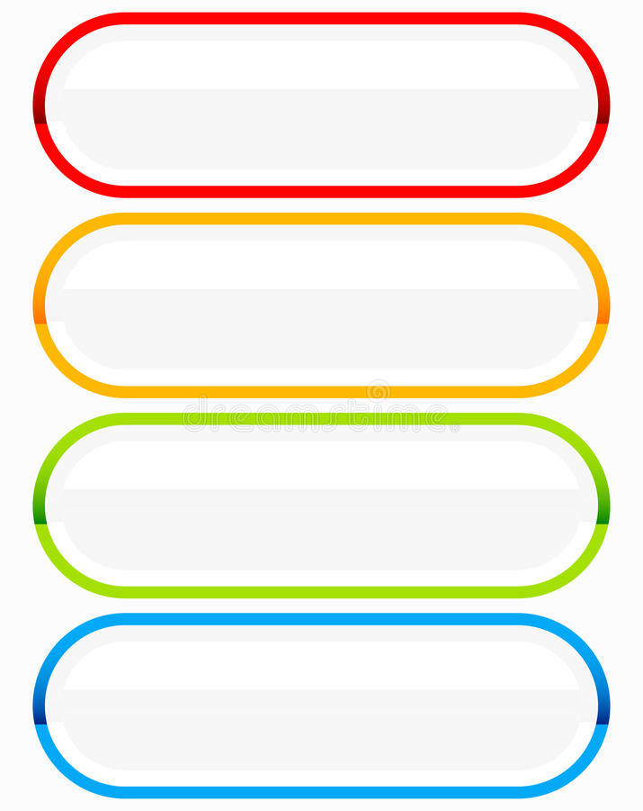 Elementos del botón o de la bandera Etiqueta colorida, etiqueta para sus mensajes libre illustration
