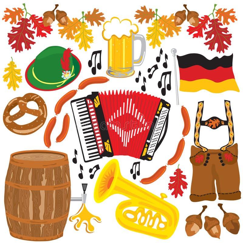 Elementos del clipart del partido de Oktoberfest foto de archivo