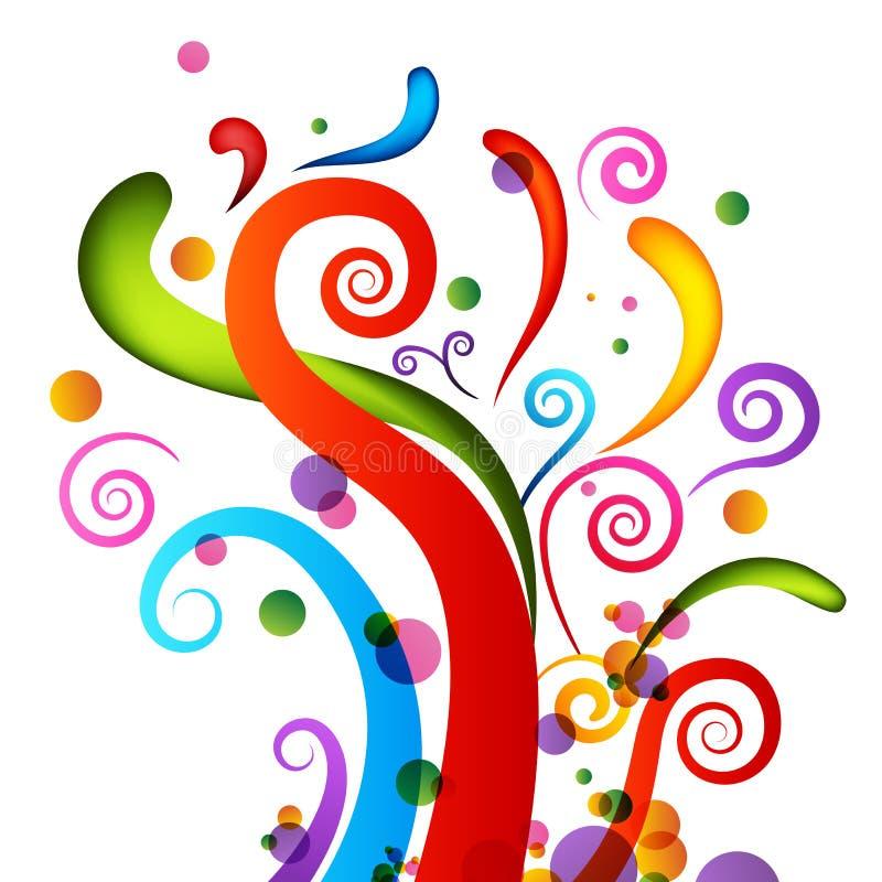 Elementos del confeti de la celebración stock de ilustración