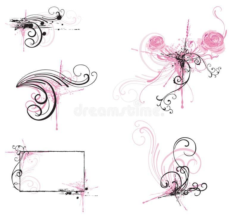 Elementos del diseño ilustración del vector