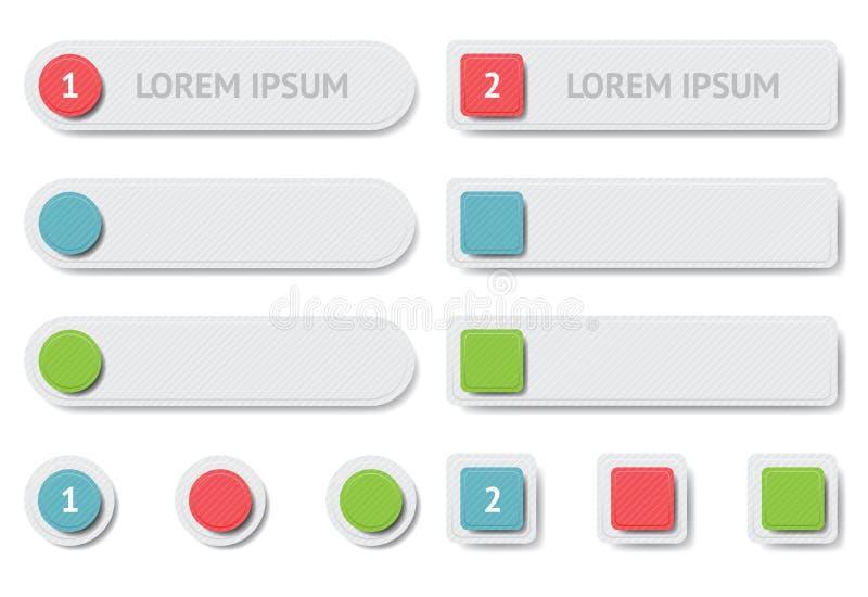 Elementos Del Diseño. Banderas Y Botones Fotografía de archivo libre de regalías