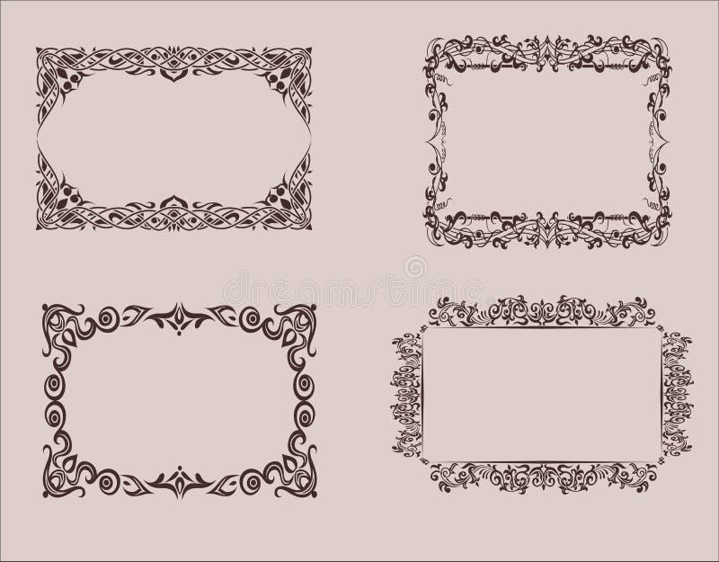 Elementos del diseño Capítulo, fronteras Gráficos de vector vendimia foto de archivo libre de regalías