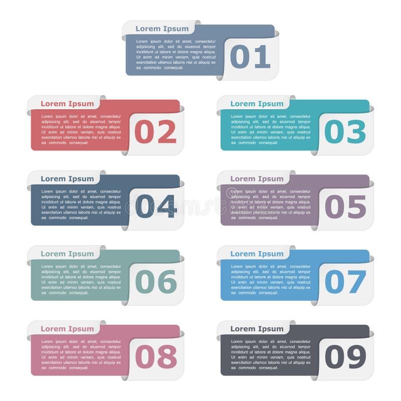 Elementos del diseño con números libre illustration