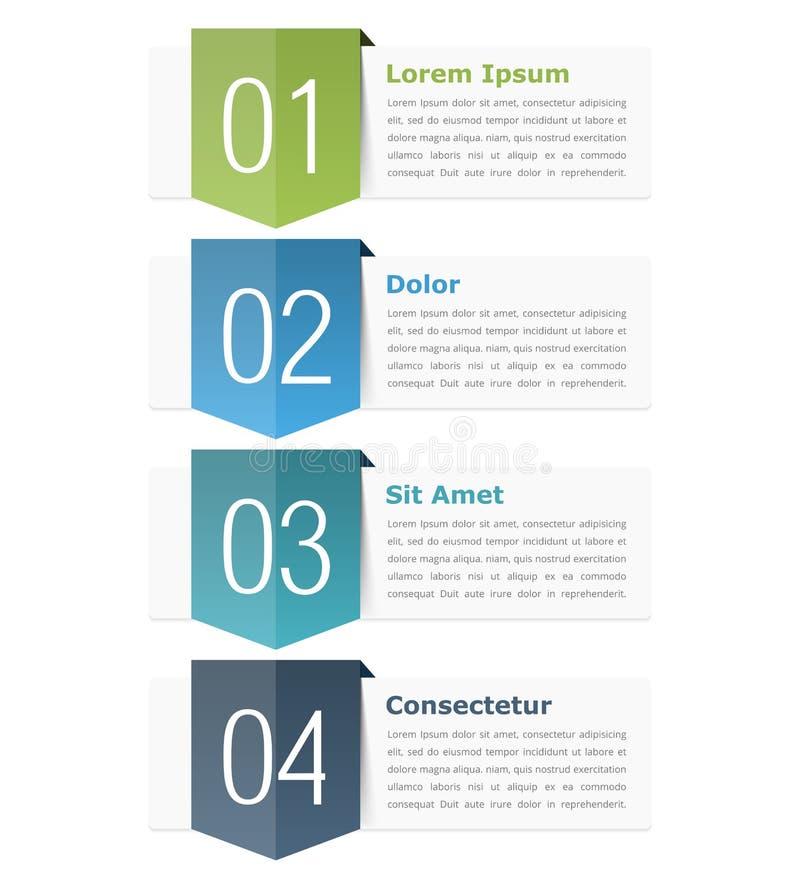 Elementos del diseño con números stock de ilustración