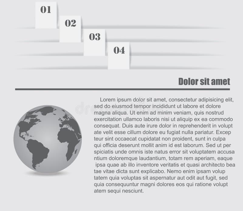 Elementos del diseño de Infographic ilustración del vector