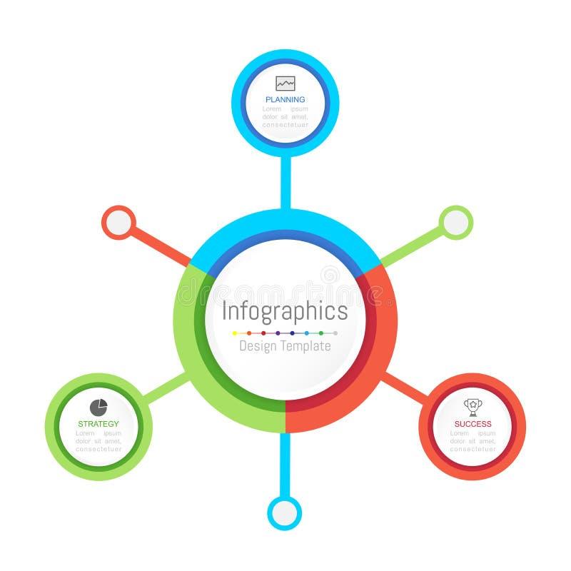 Elementos del diseño de Infographic para sus datos de negocio con 3 opciones, porciones, pasos, cronologías o procesos libre illustration