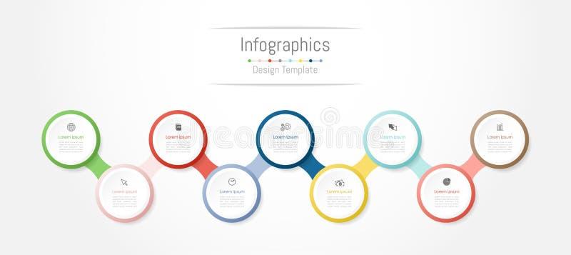 Elementos del diseño de Infographic para sus datos de negocio con 9 opciones, porciones, pasos, cronologías o procesos Vector stock de ilustración