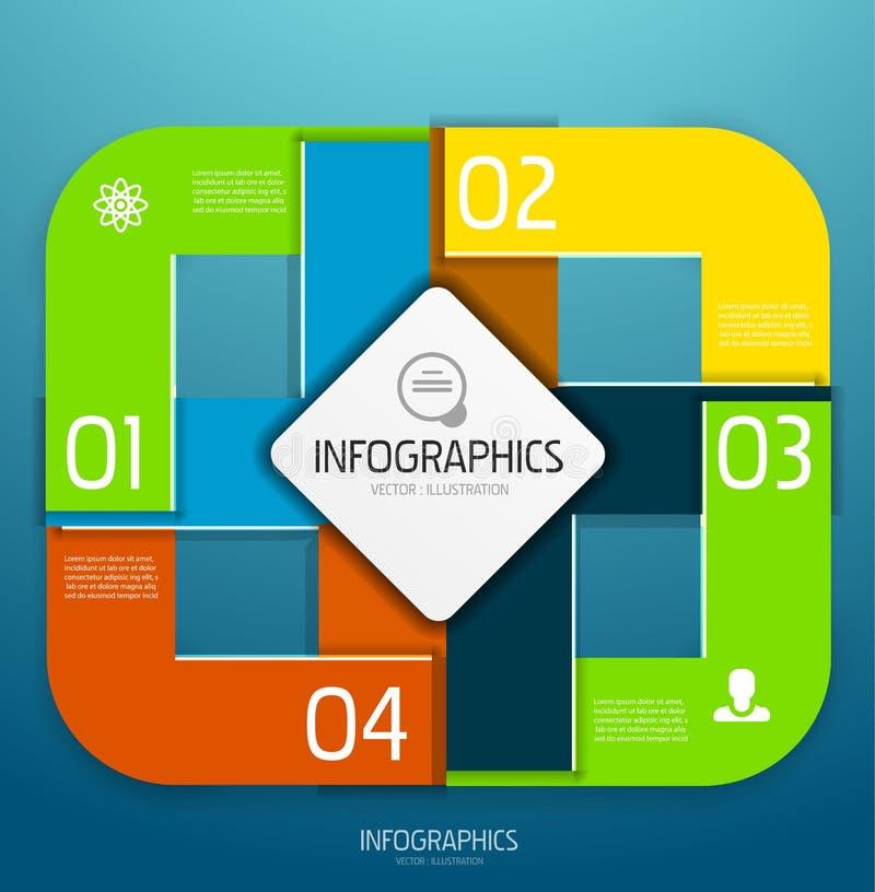 Elementos del diseño de la bandera de Infographic, numerados listas stock de ilustración