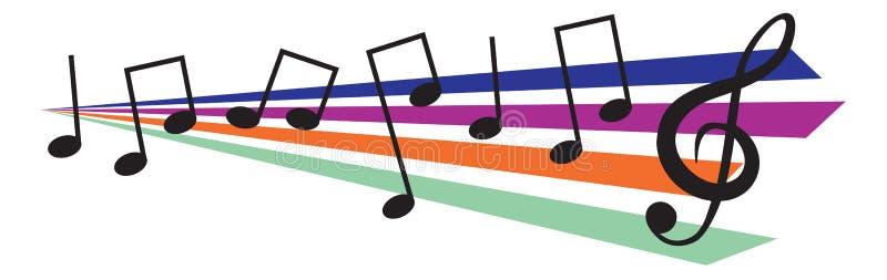 Elementos del diseño de la música ilustración del vector