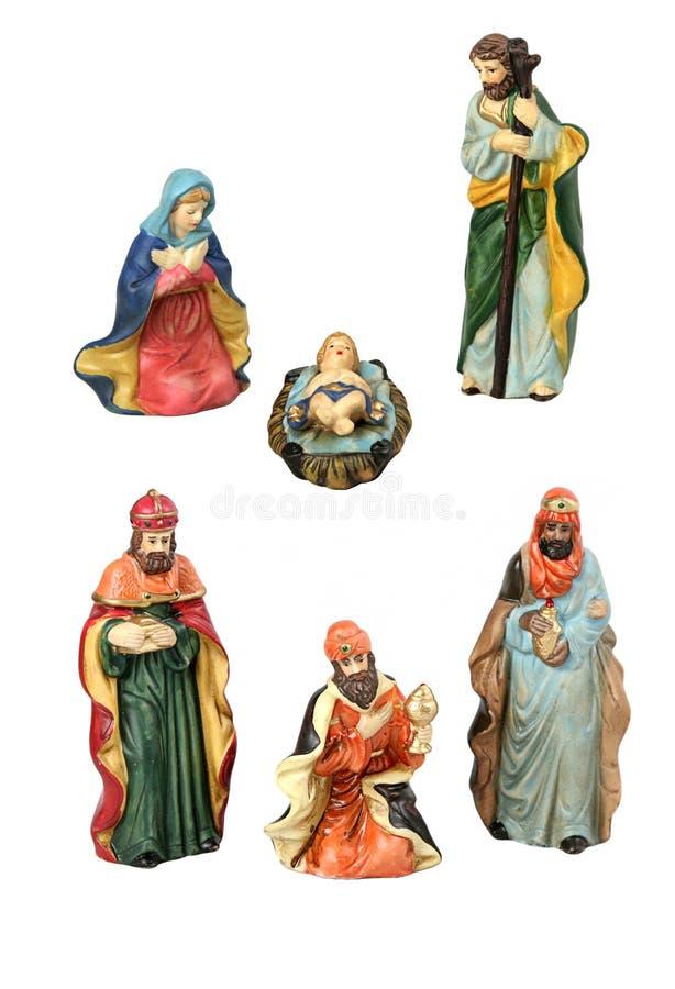 Elementos del diseño de la natividad de la Navidad fotografía de archivo