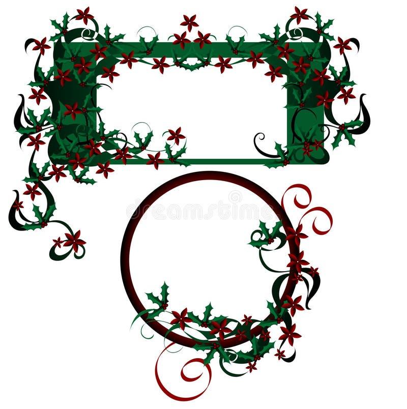 Elementos del diseño de la Navidad. ilustración del vector