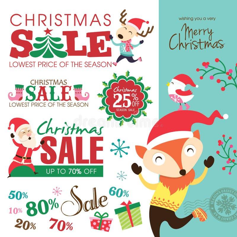 Elementos del diseño de la Navidad stock de ilustración