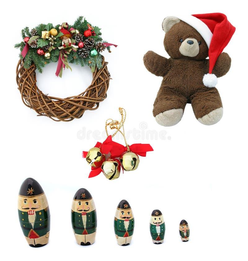 Elementos del diseño de la Navidad imágenes de archivo libres de regalías