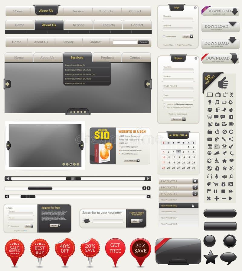 Elementos del diseño de Web del vector stock de ilustración