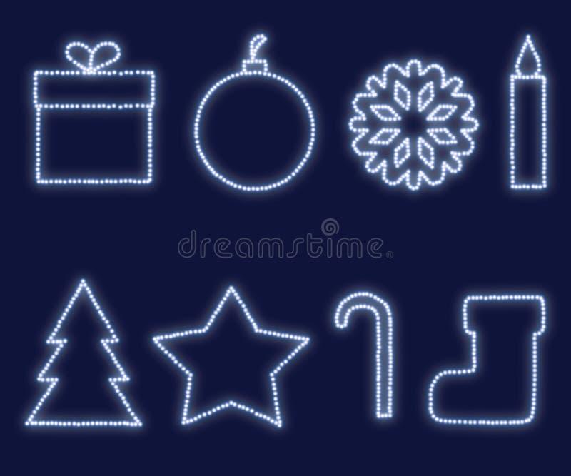 Elementos del diseño del Año Nuevo y de la Navidad fotos de archivo libres de regalías