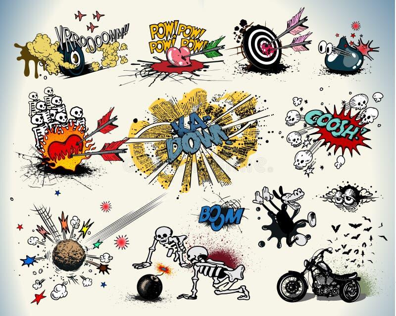 Elementos del diseño del cómic libre illustration