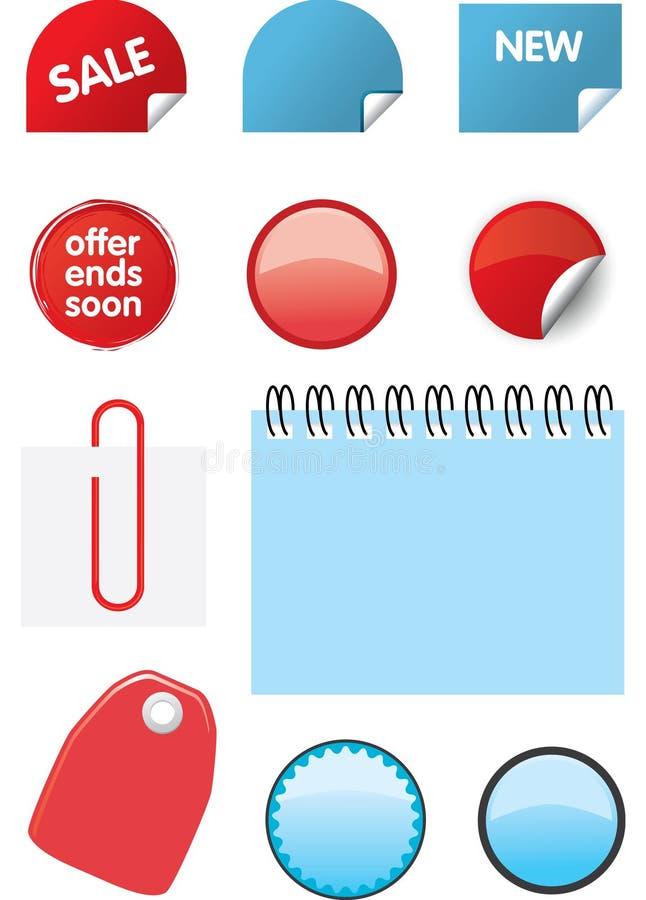 Elementos del diseño del catálogo imagen de archivo
