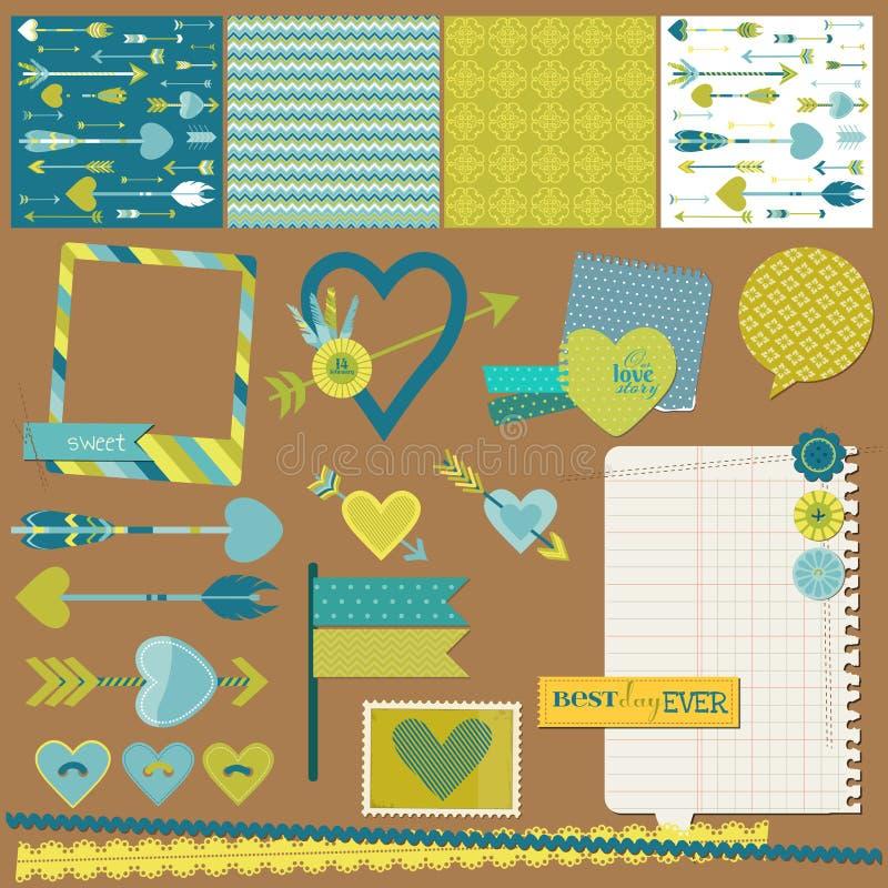 Amor, corazón y flechas libre illustration