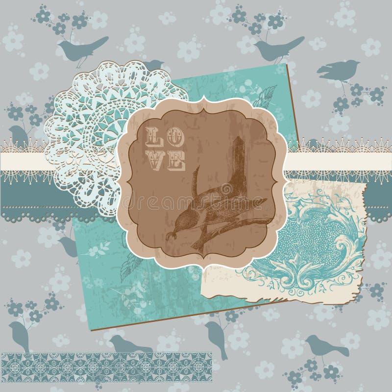 Elementos del diseño del libro de recuerdos - vendimia libre illustration