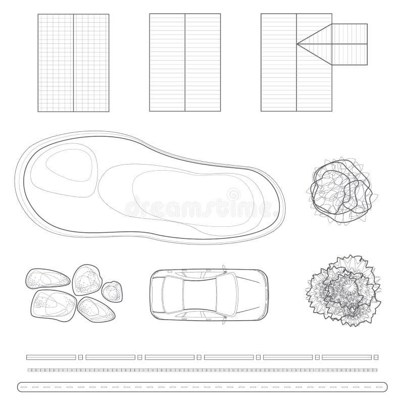 Download Elementos Del Diseño Del Paisaje Foto de archivo - Imagen de esquema, hierba: 42440562